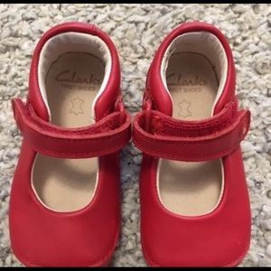 Clarks size 4 Leather Baby Shoes